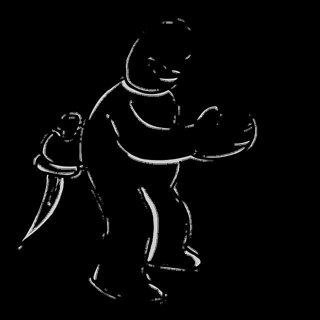 nůž za zády